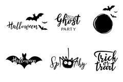 Vector het van letters voorzien van Halloween reeks Stock Foto