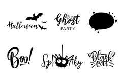 Vector het van letters voorzien van Halloween reeks Stock Afbeelding