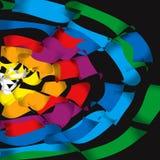 Vector het vliegen regenboogkleuren Stock Afbeelding