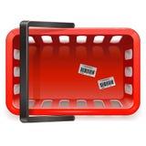 Vector het winkelen mand Royalty-vrije Stock Afbeeldingen