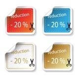 Vector het winkelen stickers Royalty-vrije Stock Fotografie