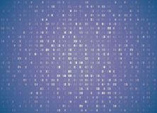 Vector hexadecimal code pale violet retro background. Big data and programming hacking, deep decryption and encryption Stock Image