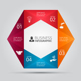 Vector hexagon element for infographic. Royalty Free Stock Photography