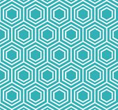 Vector Hexagon Geometric Pattern Retro Style royalty free stock photo