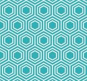 Vector Hexagon Geometrische Patroon Retro Stijl Royalty-vrije Stock Foto