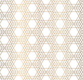 Vector hexagon golden seamless pattern Royalty Free Stock Image