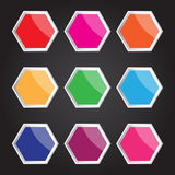 Vector hexagon icon for creative work Stock Photography