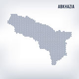 Vector hexagon map of Abkhazia on a gray background Royalty Free Stock Images
