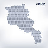 Vector hexagon map of Armenia on a gray background royalty free illustration