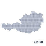 Vector hexagon map of Austria isolated on white background Stock Image