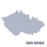Vector hexagon map of Czech Republic isolated on white background Royalty Free Stock Photos