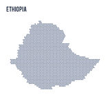 Vector hexagon map of Ethiopia on a white background Stock Photography