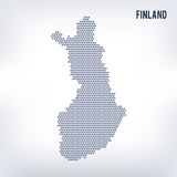 Vector hexagon map of Finland  on a gray background Royalty Free Stock Images