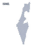 Vector hexagon map of Israel on a white background Stock Image