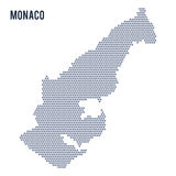 Vector hexagon map of Monaco isolated on white background Royalty Free Stock Photo