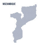 Vector hexagon map of Mozambique on a white background Royalty Free Stock Image