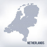 Vector hexagon map of Netherlands Royalty Free Stock Photography