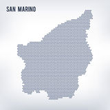 Vector hexagon map of San Marino on a gray background Royalty Free Stock Photos