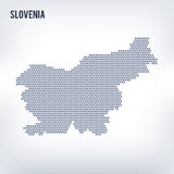 Vector hexagon map of Slovenia on a gray background Stock Image