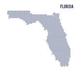 Vector hexagon map of State of Florida on a white background Royalty Free Stock Image