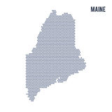 Vector hexagon map of State of Maine on a white background Royalty Free Stock Photography