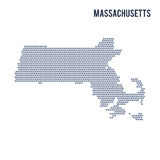 Vector hexagon map of State of Massachusetts on a white background Royalty Free Stock Image