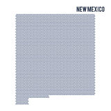 Vector hexagon map of State of New Mexico on a white background Stock Photos