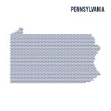 Vector hexagon map of State of Pennsylvania on a white background Royalty Free Stock Photography
