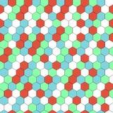 Vector hexagon naadloze achtergrond Stock Afbeeldingen