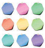 vector hexagon paper notes Stock Images