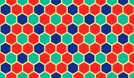 Vector Hexagon Patroon Stock Afbeeldingen
