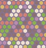 Vector hexagon retro naadloos patroon Stock Foto
