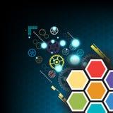Vector hexagon technology Stock Photos