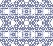 Vector hexagon texture, vintage seamless pattern, blue serenity. Royalty Free Stock Image