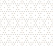Vector hexagonal geometric pattern. Design for decor, digital, web. Vector hexagonal geometric pattern. Subtle seamless texture with small hexagons in neutral Stock Photography