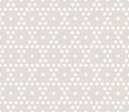 Vector hexagons geometric seamless pattern. Subtle beige and white background. Vector hexagonal geometric pattern. Subtle seamless texture with small hexagons Royalty Free Stock Photography
