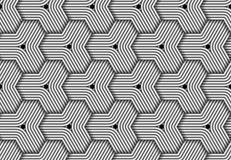 Vector hexagonal seamless pattern of woven fiber. royalty free illustration