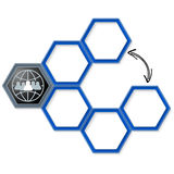 Vector hexagons Royalty Free Stock Photography
