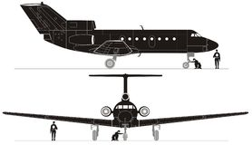 Vector hi-detailed jet silhouettes Royalty Free Stock Photos