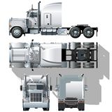 Vector hi-detailed semi-truck Stock Image