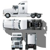 Vector hi-detailed semi-truck Stock Images