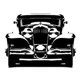 Vector hi-detailed silhouette retro styled hotrod isolated on white background. vector illustration