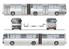 Vector hi-detailed urban bus Stock Images