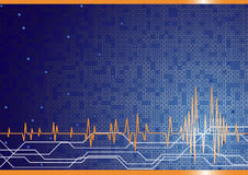Vector hi-tech background in blue color stock illustration