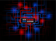 Vector hi-tech concept against dark background Royalty Free Stock Images