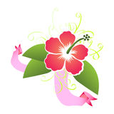 Vector hibiscus ornamental design Stock Photo