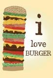 Vector high burger royalty free illustration
