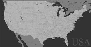 Vector High detailed accurate, exact United States of America, a Stock Photography