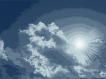 Vector High Detailed Clouds. Royalty Free Stock Images
