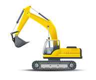 Vector high detailed excavator Stock Photo